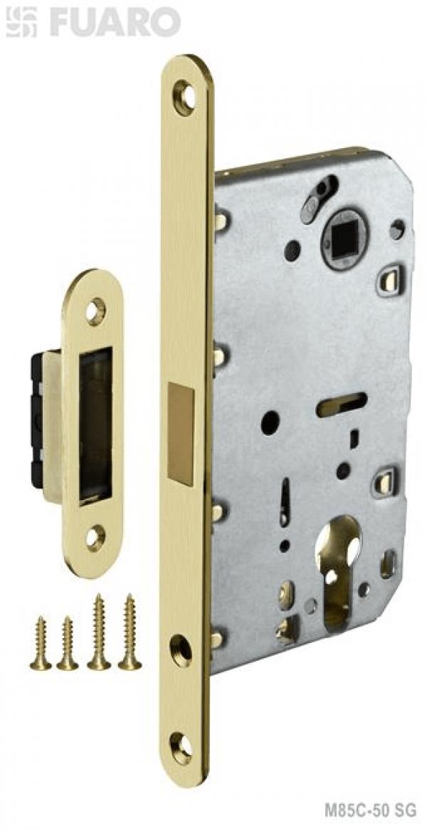 Корпус замка MAGNET M85C-50 SG мат. золото с магнитным язычком