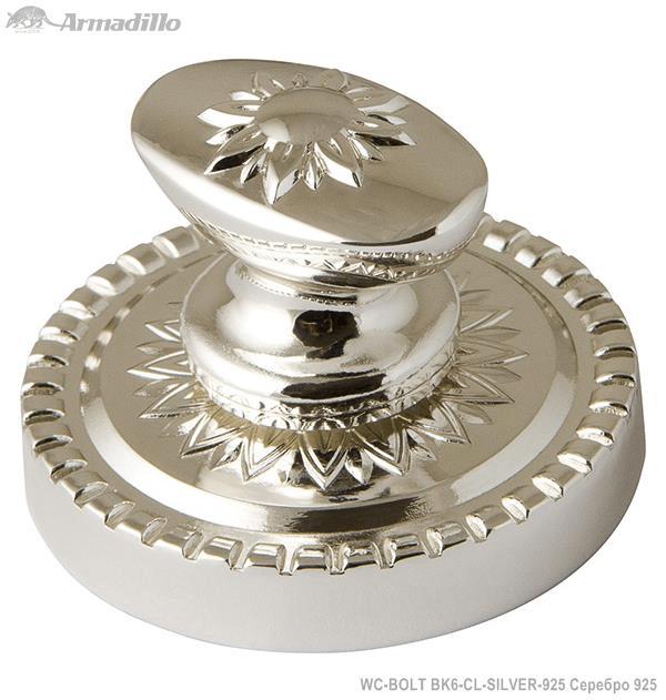 Ручка поворотная WC-BOLT BK6/CL-SILVER-925 Серебро 925
