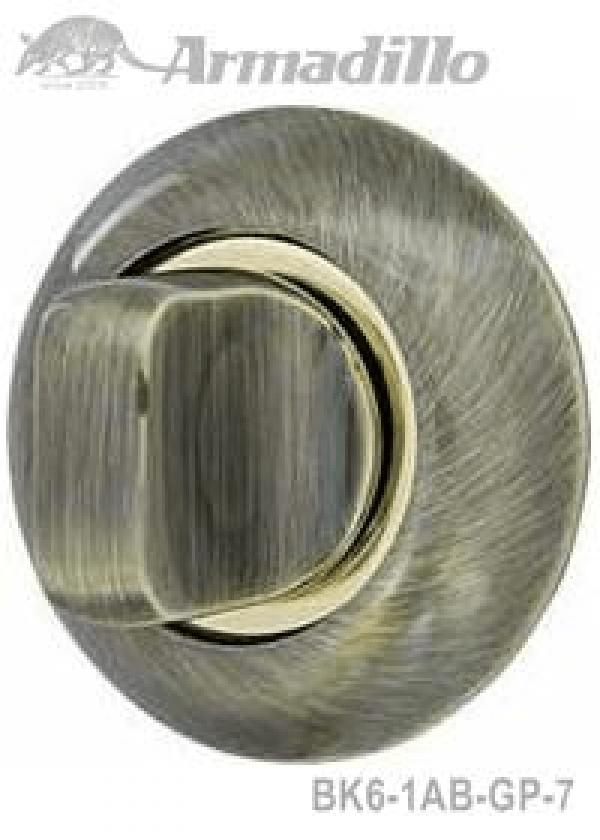 Ручка поворотная WC-BOLT BK6-1AB/GP-7 бронза/золото