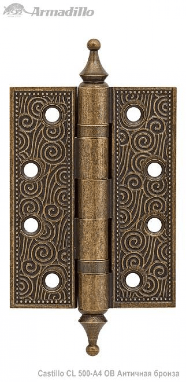 Петля универсальная Castillo CL 500-A4 102х76х3,5 OB Античная бронза