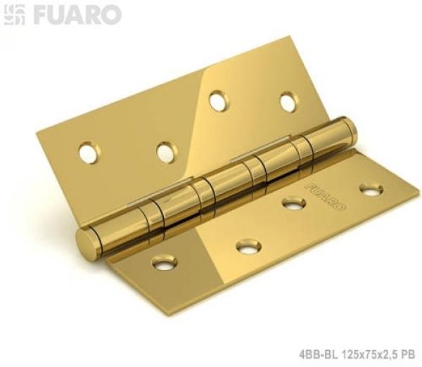 Петля универсальная 4BB/BL 125x75x2,5 PB (латунь) БЛИСТЕР