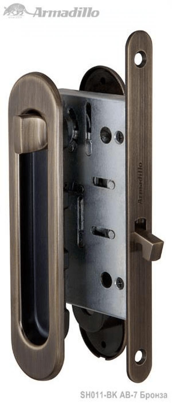 Набор для раздвижных дверей SH011-BK AB-7 Бронза