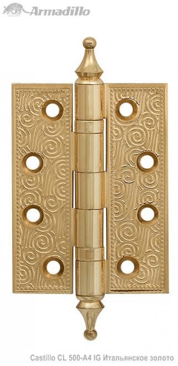 Петля универсальная Castillo CL 500-A4 102х76х3,5 IG Итальянское золото
