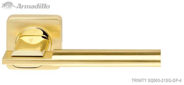 Ручка раздельная TRINITY SQ005-21SG/GP-4 матовое золото/золото