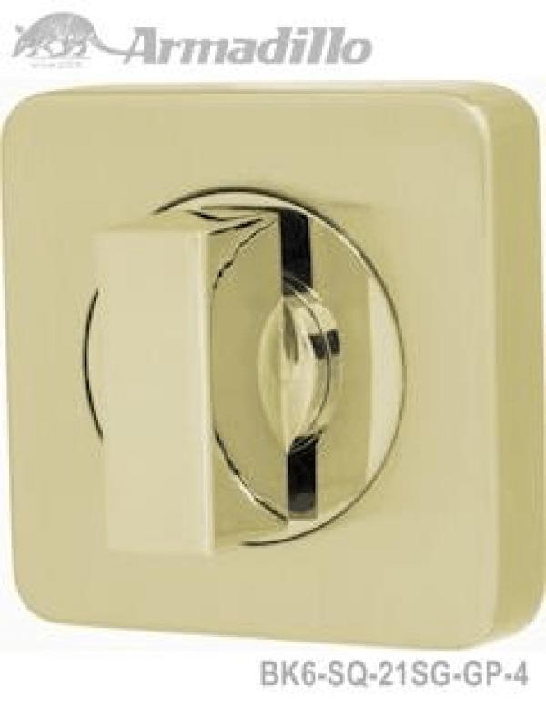 Ручка поворотная WC-BOLT BK6/SQ-21SG/GP-4 матовое золото/золото