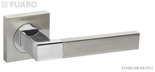 Ручка раздельная ETHNO KM SN/CP-3 мат. никель/хром