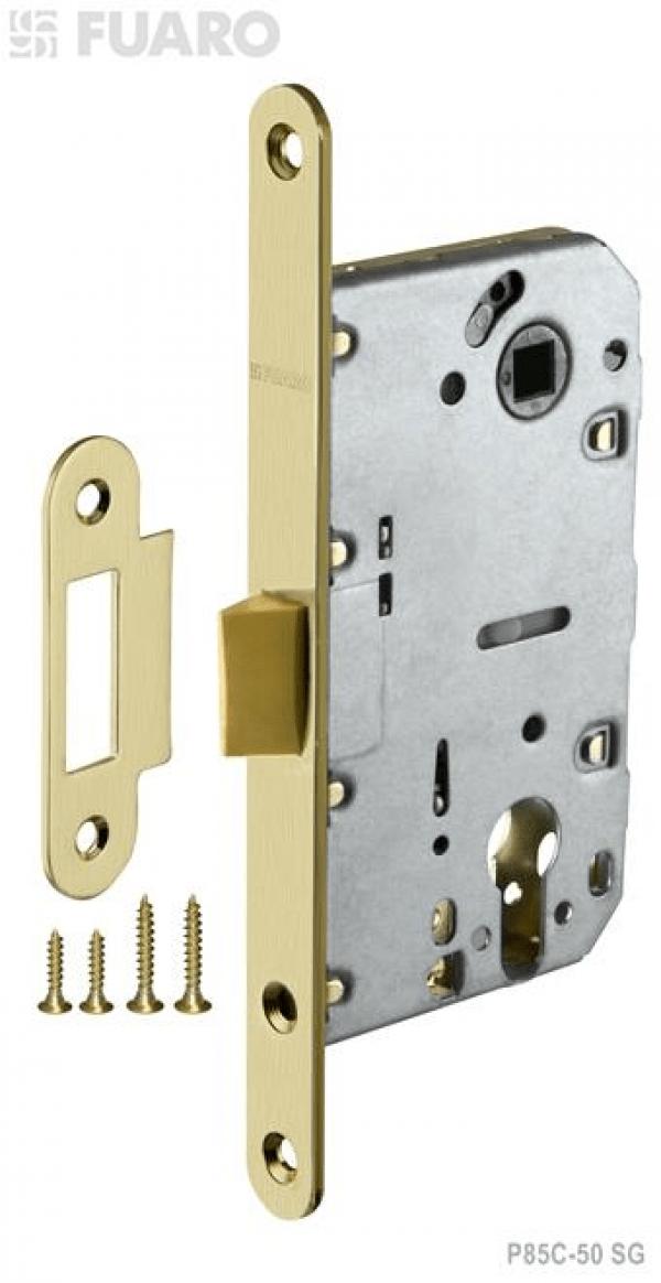 Корпус замка PLASTIC P85C-50 SG мат. золото с пластиковым язычком