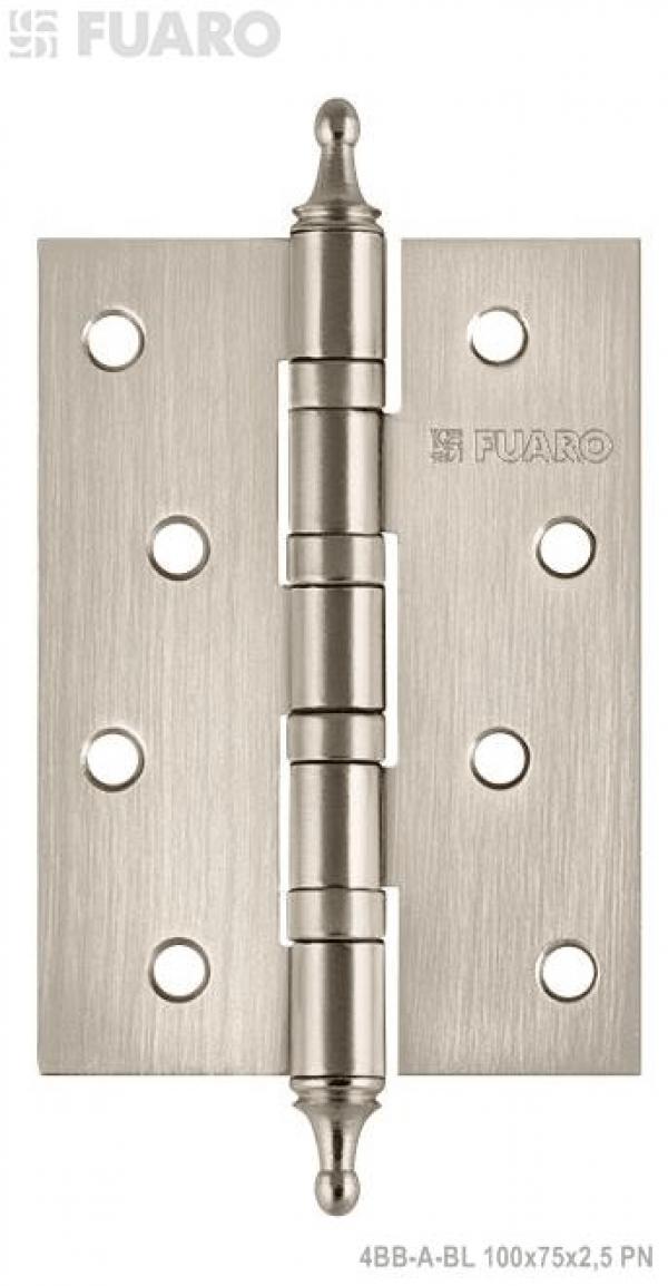 Петля универсальная 4BB/A/BL 100x75x2,5 PN (мат. никель) БЛИСТЕР