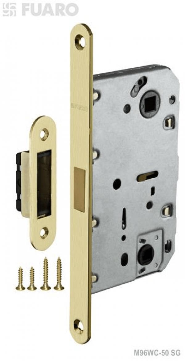 Защелка врезная MAGNET M96WC-50 SG мат. золото с магнитным язычком